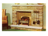 Fake Fireplace  Retro