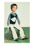 Boy Doll in Sweater Vest