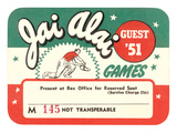 Ticket for Jai Alai