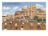 Bikes on Boardwalk  Atlantic City  New Jersey
