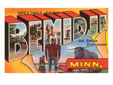 Greetings from Bemidji  Minnesota