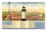 Lighthouse  Duluth Harbor  Minnesota