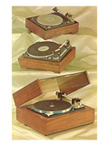 Three Turntables  Retro