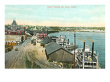 Boat Docks  St Paul  Minnesota