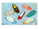 Assortment of Slippers  Retro