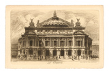 Paris Opera House Etching