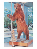 Small Girl with Large Bear  Retro