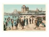 Vintage Atlantic City Beach Scene  New Jersey