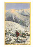 Skiing  Mt Cannon  Franconia Notch  New Hampshire