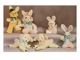 Stuffed Rabbit and Lamb Toys