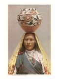 Pueblo Woman with Olla  New Mexico