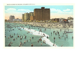 Beach Scene  Atlantic City  New Jersey