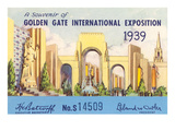Souvenir of International Exposition  San Francisco  California
