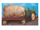 Toy Tractor Hauling Giant Potato