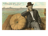 Man with Large Pumpkin  Montana
