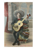 Charro Playing Guitar  Mexico