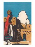 Pueblo Indian Woman with Pot