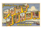 Greetings from Port Huron  Michigan