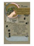 Playbill for La Scala Recital