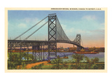 Ambassador Bridge  Detroit  Michigan