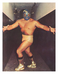 Mexican Wrestler in Gold Boots