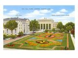 City Hall  Gardens  Jackson  Mississippi