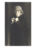 Actor in Melodrama with Cape and Top Hat