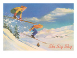 Ski Big Sky  Lady Skiers  Montana