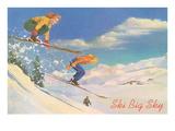 Ski Big Sky  Lady Skiers  Montana