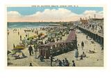Beach and Boardwalk  Ocean City  New Jersey