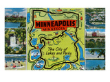Map and Scenes of Minneapolis  Minnesota