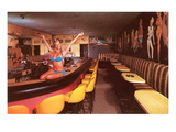 Swedish Girl in Bathing Suit on Bar  Retro
