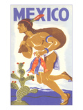 Travel Poster with Tarahumara Indian Running