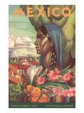 Mexico Poster  Native Woman