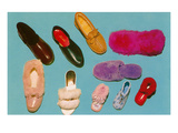 Variety of Slippers  Retro