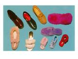 Variety of Slippers  Retro