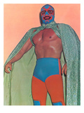 Mexican Wrestler with Thunderbird Motif