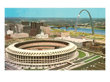 Stadium and Arch in St Louis  Missouri