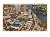 Aerial View  St Paul  Minnesota