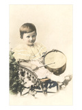 Child with Toy Drum