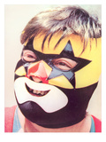 Young Chubby Boy in Wrestling Mask