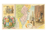Map of New Jersey  Old Crafts
