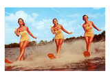 Three Bathing Beauties Waterskiing