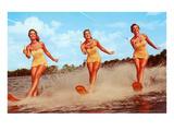 Three Bathing Beauties Waterskiing