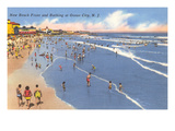 Beach Scene  Ocean City  New Jersey