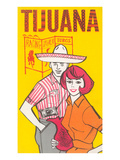 Tijuana Travel Poster with Gringos