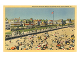Beach and Boardwalk  Ocean Grove  New Jersey