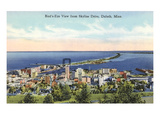 Aerial View of Duluth  Minnesota
