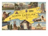 Map and Scenes of North Carolina