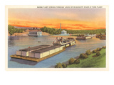 Barge Fleet  Mississippi River  Minnesota